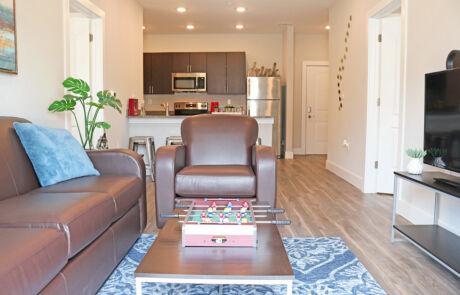 Quarters Bloomington Living Room