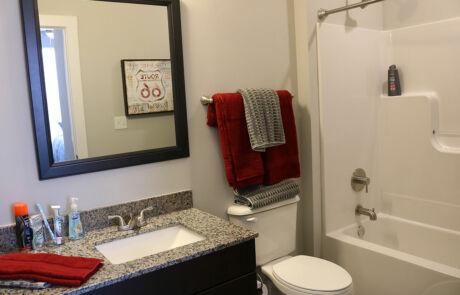 The Quarters Bloomington Bathroom